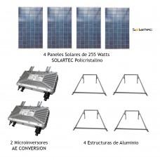Kit de 1000 Watts Bifásico para Interconección