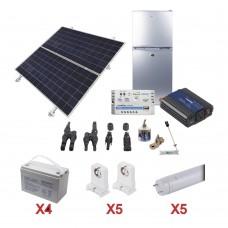 Refrigerador Solar 105 L Kit Solar Completo E Iluminación